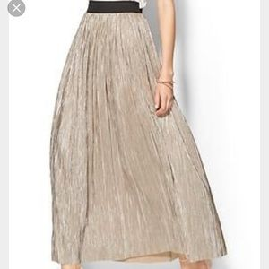 Piperlime Dresses & Skirts - Piperlime Collection Metallic Pleated Maxi Skirt