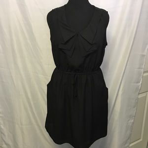 BeBop Dresses & Skirts - Black Ruffle Top Dress with Pockets