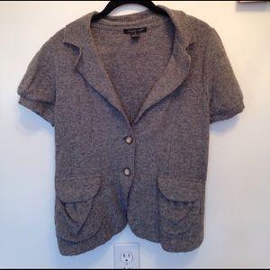 50 off august silk sweaters nwt iris ribbed scoop short sleeve