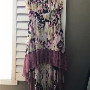 Strapless Colorful maxi dress from Anthropology