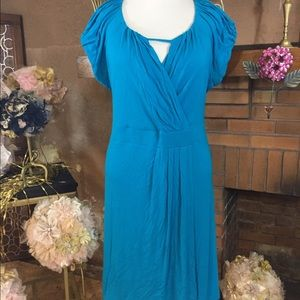 Igigi Dresses & Skirts - Igigi turquoise faux wrap dress size 26/28