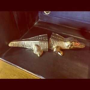 Other - Gold alligator bookends