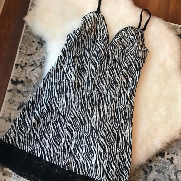 Victoria's Secret Intimates & Sleepwear - NWOT Victoria's Secret Zebra print camisole slip