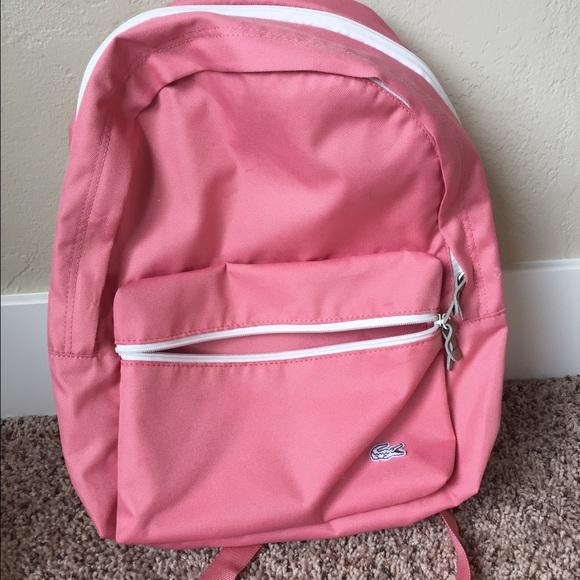 069883b7ed Lacoste Handbags - Lacoste pink backcroc pastels backpack