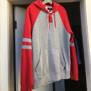 Brixton Other - Brixton Striped Sleeve Hoodie Size: S