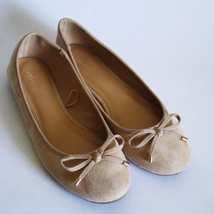 Forever 21 ballet flats shoes suede beige size 7
