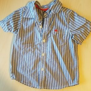Carter's Other - Blue And White Striped Button Down
