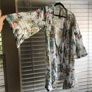 Plum Pretty Sugar Tops - Floral cotton kimono