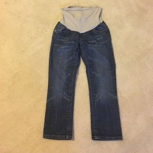 Indigo Blue Pants - Extra small maternity capri jeans