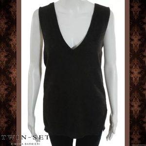 Twin-Set Tops - TWIN SET By SIMONA Deep Brown WoolCashmere Sweater