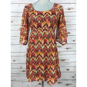 Judith March Dresses & Skirts - {Judith March} Multi-color Crochet Knit Dress