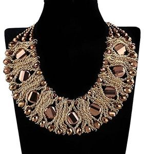 NWOT Luxury Chunky Statement Necklace