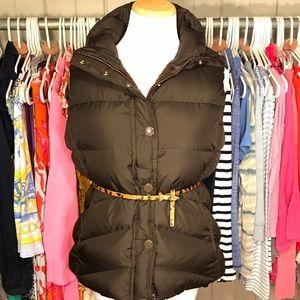 J. Crew Jackets & Blazers - J. Crew Brown Down Fleece Lined Vest