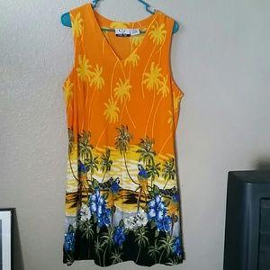 CZ  Other - CZ swim cover up dress. Brilliant macaw colors