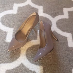 Ann Taylor Shoes - 🆕 Ann Taylor Taupe Patent Leather Pumps Cynthia 5