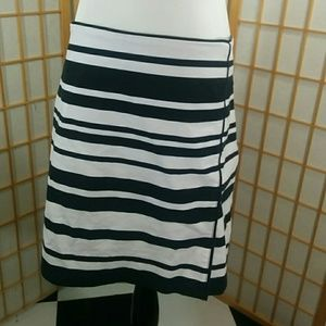 White House Black Market striped skirt