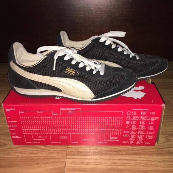 Puma Shoes - Puma Speeder Metallic Women s in Black Gold 8145796dd
