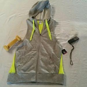 Victoria's Secret Jackets & Blazers - NWT. VXS  Hoodie Vest Neon Green Mesh!  sexy sport