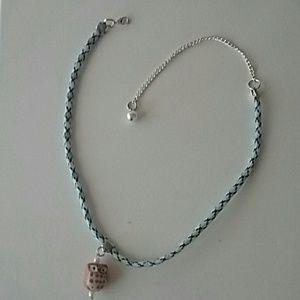Poetry in Motion Jewelry - NWT Happy Camper Owl Choker & Bracelet