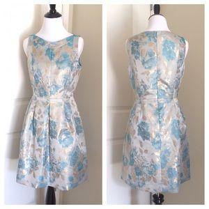 Tahari Dresses & Skirts - NWT Tahari Sky Blue/ Gold  Petite Dress