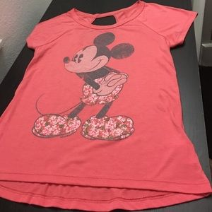 Disney Authentic Floral Mickey Tee