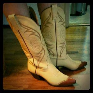 Tony Lama Shoes - Gorgeous Tony Lama Two-Tone Cowboy Boots