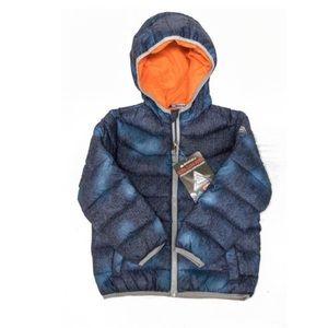 Snozu Other - Snozu navy and orange toddler puffer jacket hood