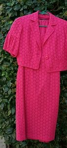 Pink Jacket and sheath Ann Taylor