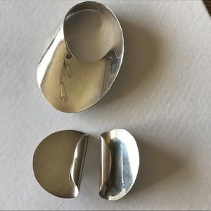 Vintage Jewelry - Vintage 925 Taxco Mexico silver pin and earrings