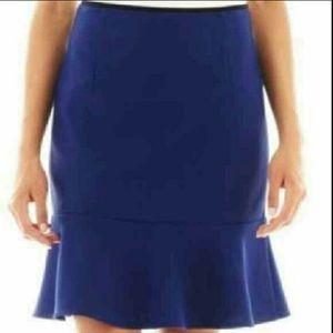 Bisou Bisou Blue Pencil skirt