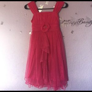 My Michelle Other - Girls Sequin Pink Flower Glittery Dress G23