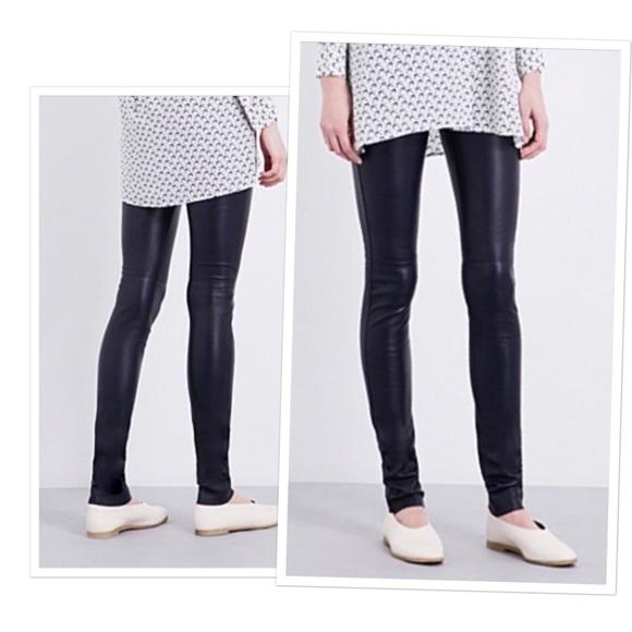 a40ed262acf702 Joseph Pants - •Joseph skinny lambskin leather leggings pants•