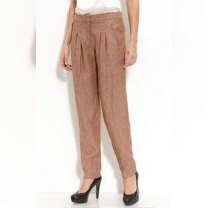Theory Pants - Theory Dalisha Pleated Linen Pants