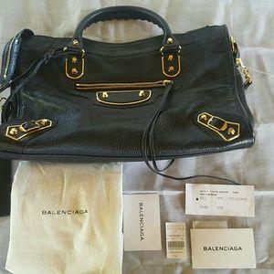 Balenciaga Handbags - Balenciaga Arena Metallic Edge City Bag (2014)
