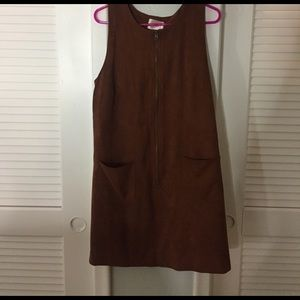 ModCloth Dresses & Skirts - Suede pinny
