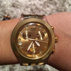 Swatch Accessories - Swatch Gold Chronograph Watch