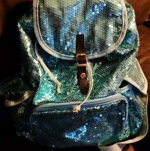 Handbags - Cute blue bling back pack