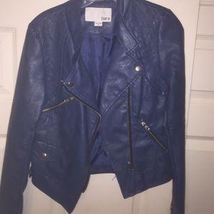 BarIII faux leather jacket