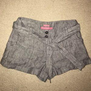 Island Company Pants - Like new Tie chambray shorts- XS