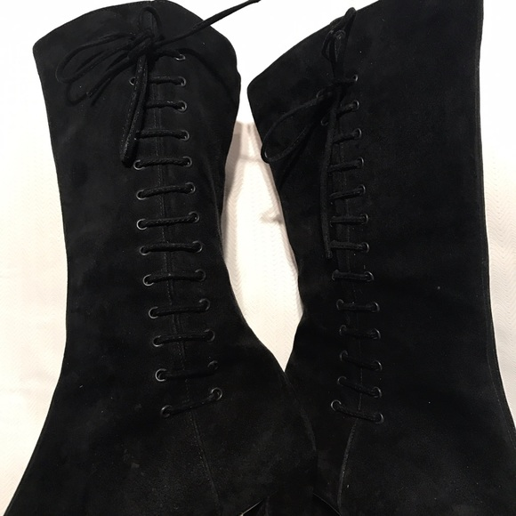 Via Spiga Black Lace Up Shoe