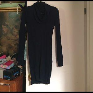 PattyBoutik Dresses & Skirts - BNWT Navy Blue Cowl Neck Sweater Dress