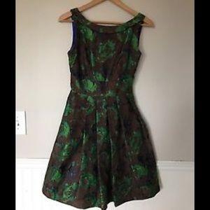 Eva Franco Dresses & Skirts - Eva Franco 8, Brown, Green, Retro