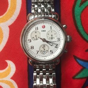 Michele Accessories - Michele CSX CX39 watch 39 mm chrono date stainless