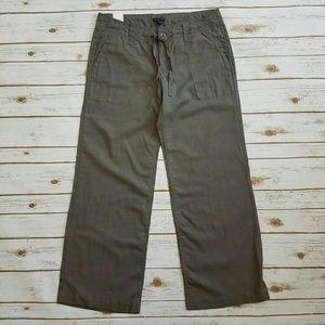 {GAP} Gray Wide Leg Linen Trousers Size 12