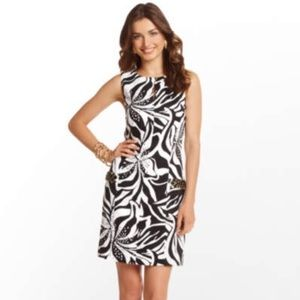 Lilly Pulitzer black, white, & gold Holiday Dress