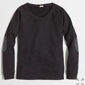 J. Crew Black Elbow Patch Sweatshirt Sweater