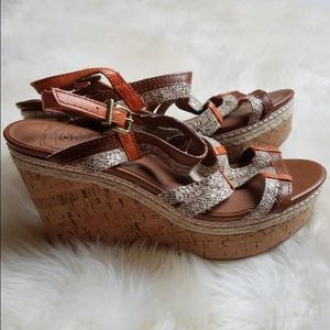 Lucky Brand Shoes - Lucky Brand Keena Leather Wedge Sandals