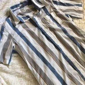 Volcom Other - Volcom Short Sleeve striped Button Down