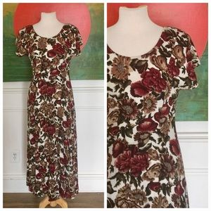 Vintage Dresses - Vintage 80's All That Jazz floral midi maxi dress