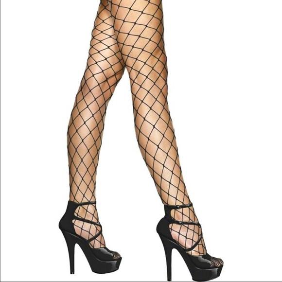 fb6c1cb003df8 Accessories | Black Fishnet Stockings Leggings Tights One Size ...